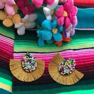 💃🏻🌞 Beaded Fan Earrings 🌞💃🏻